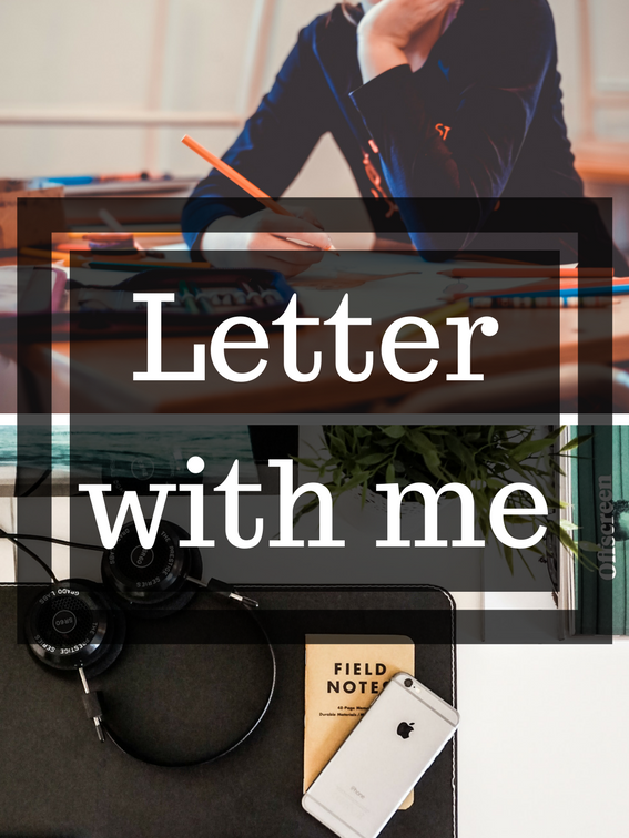 Letter with me – video
