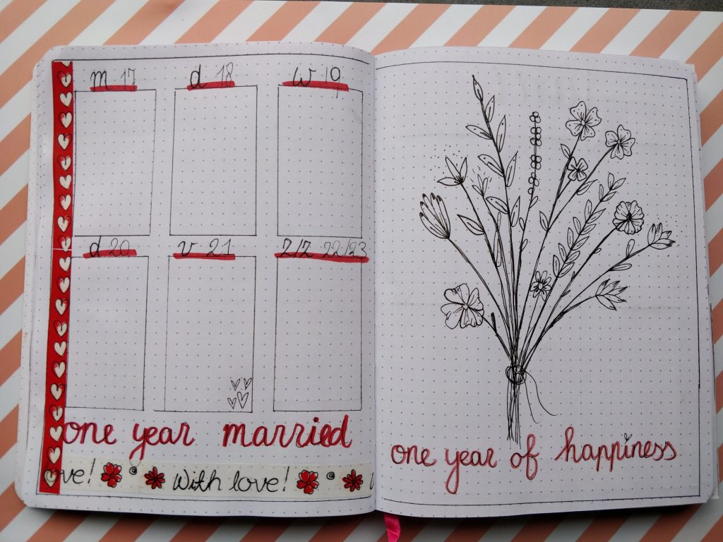 bullet journal inspiratie juni